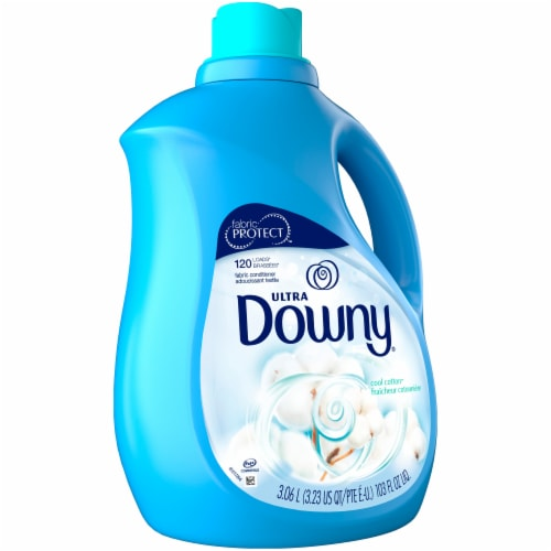 Downy Ultra Cool Cotton Liquid Fabric Conditioner Perspective: left