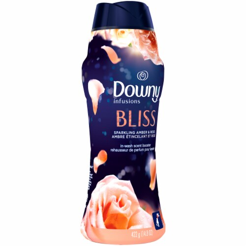 Downy® Infusions Bliss Sparkling Amber and Rose In-Wash Scent Booster Perspective: left