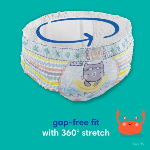 Pampers Splashers Large Disposable Swim Pants Perspective: left