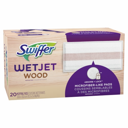 Swiffer WetJet Wood Mopping Pad Refill Perspective: left