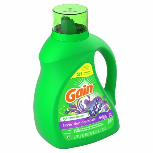 Gain + Aroma Boost Lavender Liquid Laundry Detergent Perspective: left
