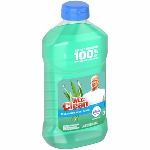 Mr. Clean with Febreze Meadows & Rain Multi Surface Cleaner Perspective: left