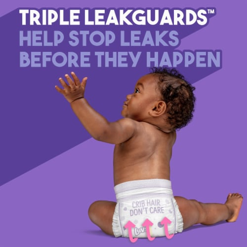 Luvs Triple Leakguards Size 6 Diapers Perspective: left