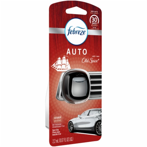 Febreze Auto Old Spice Air Freshener Vent Clip Perspective: left