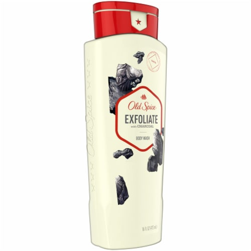 Old Spice Men Body Wash Fresher Collection Exfoliate with Charcoal Perspective: left