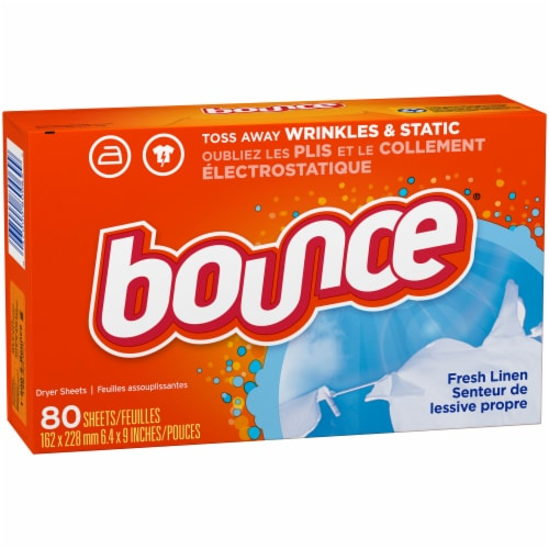 Bounce Fresh Linen Dryer Sheets Perspective: left