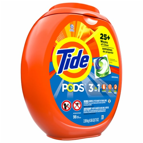 Tide Pods Original 3 in 1 Laundry Detergent Pacs Perspective: left