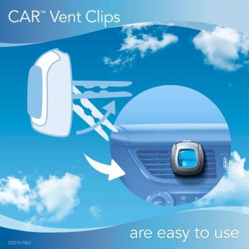 Febreze Auto Midnight Storm Air Freshener Car Vent Clip Perspective: left