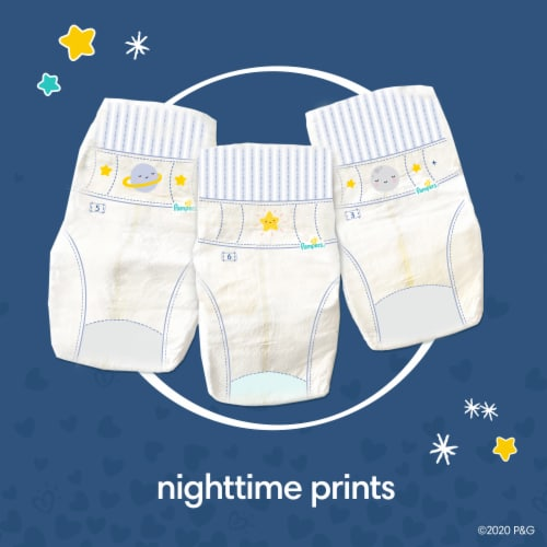 Pampers Swaddlers Overnights Size 4 Baby Diapers Perspective: left