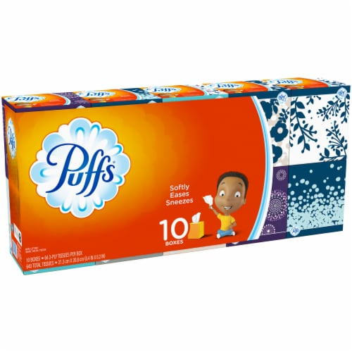 Puffs Simple Softness Non-Lotion Facial Tissue Perspective: left