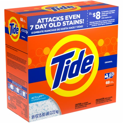 Tide Original Scent Powder Laundry Detergent Perspective: left
