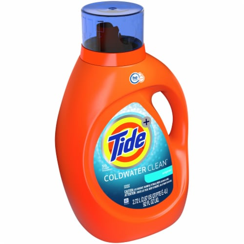 Tide Laundry Detergent Liquid Coldwater Clean Fresh Scent HE Turbo Clean 59 loads Perspective: left