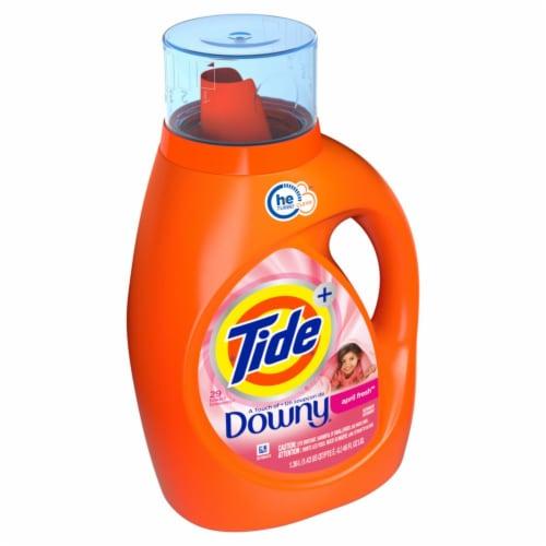 Tide® Plus Downy April Fresh Liquid Laundry Detergent Perspective: left