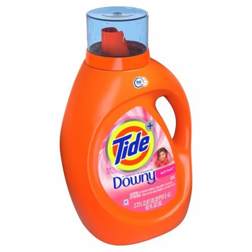 Tide Plus Downy April Fresh Liquid Laundry Detergent Perspective: left