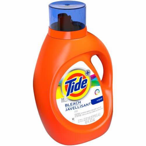 Tide Plus Bleach Alternative Liquid Laundry Detergent Perspective: left