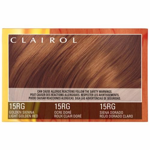 Clairol Natural Instincts 15RG Light Golden Red Hair Color Perspective: left