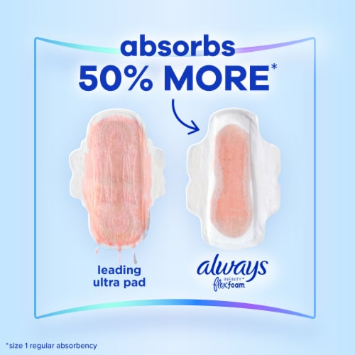 Always Infinity FlexFoam Size 3 Unscented Extra Heavy Absorbency Pads with Wings Perspective: left