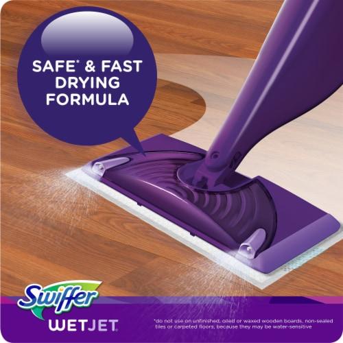 Swiffer WetJet Refill with the Power of Mr. Clean Lemon Floor Cleaner Perspective: left