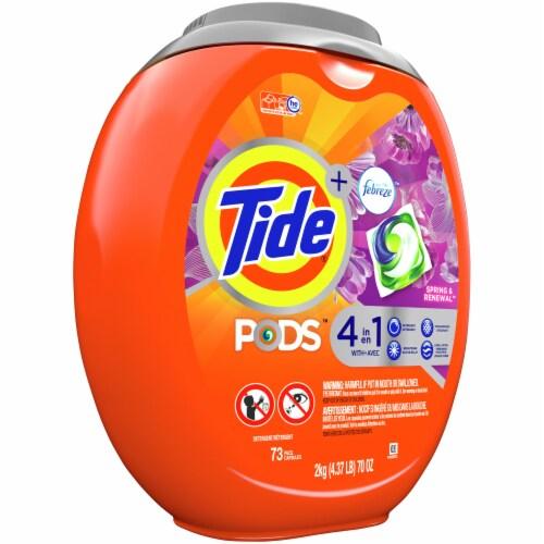 Tide Pods + Febreze Spring & Renewal Liquid Laundry Detergent Pacs Perspective: left
