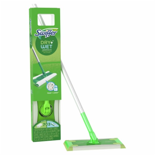 Swiffer Sweeper Dry and Wet Floor Mop Starter Kit Perspective: left