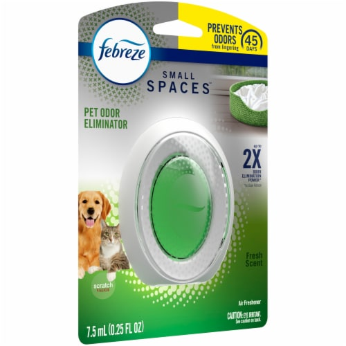 Febreze Small Spaces Fresh Scent Pet Odor Eliminator Air Freshener Perspective: left