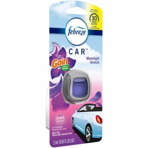 Febreze Car Gain Moonlight Breeze Scent Air Freshener Vent Clip Perspective: left