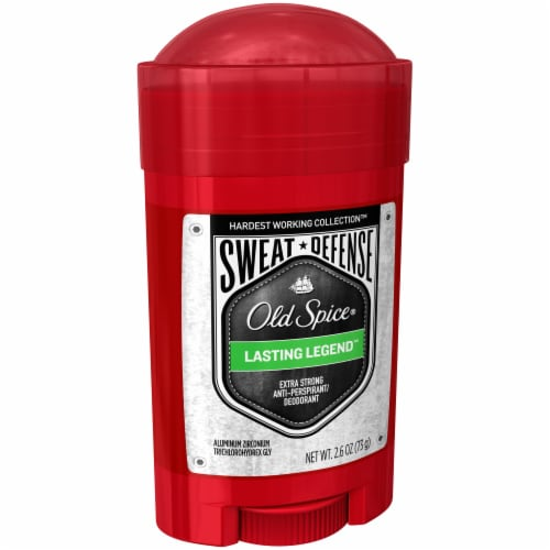 Old Spice Hardest Working Collection Sweat Defense Lasting Legend Anti-Perspirant & Deodorant Stick Perspective: left