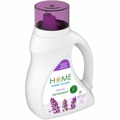 Home Made Simple Lavender Liquid Laundry Detergent Perspective: left