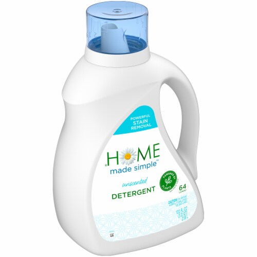 Home Made Simple Unscented Liquid Laundry Detergent Perspective: left