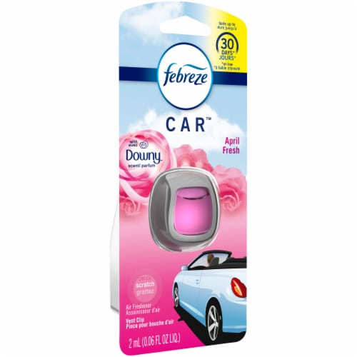 Febreze Car Downy April Fresh Scent Air Freshener Vent Clip Perspective: left