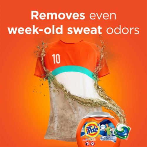 Tide Plus Febreze Sport Odor Defense Active Fresh Laundry Detergent Pods Perspective: left