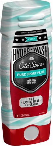 Old Spice Men Body Wash Hydrating Pure Sport Plus Perspective: left