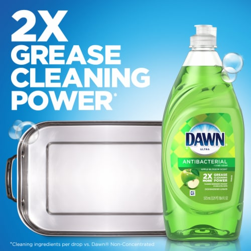 Dawn Ultra Antibacterial Dishwashing Liquid Dish Soap Apple Blossom Scent Perspective: left