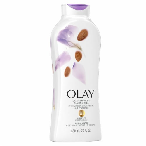 Olay Hydrating Clean Almond Milk Body Wash for Women Perspective: left