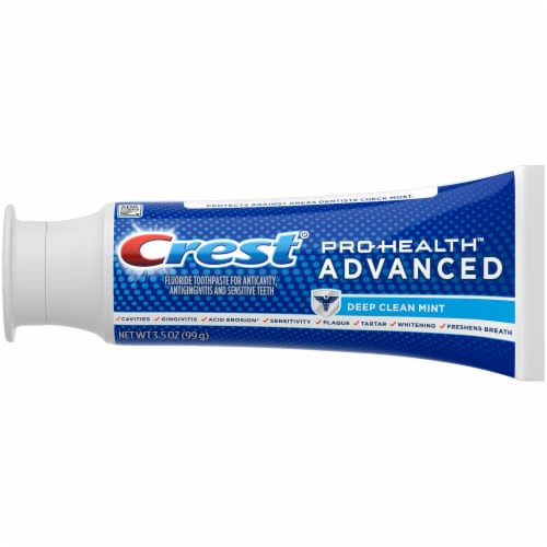 Crest Pro-Health Advanced Deep Clean Mint Fluoride Toothpaste Perspective: left
