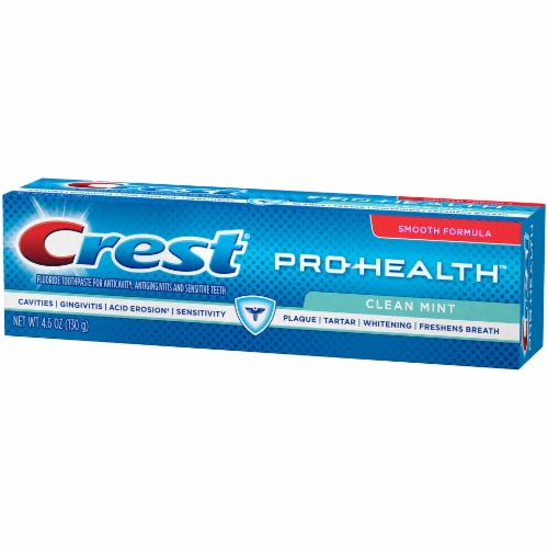 Crest Pro-Health Toothpaste Smooth Formula Clean Mint Paste Perspective: left