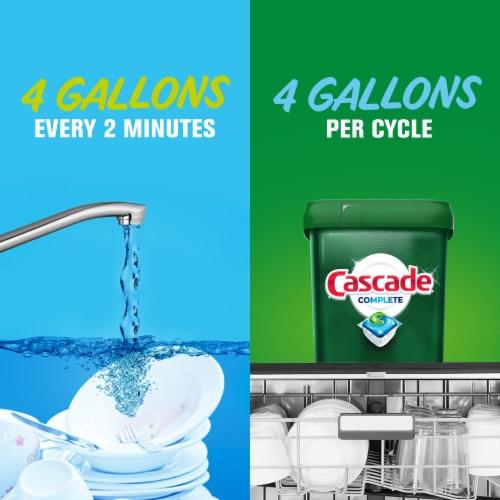 Cascade Complete Actionpacs Dishwasher Detergent Fresh Scent Perspective: left