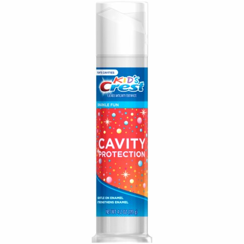 Crest Kids Cavity Protection Toothpaste Pump Children and Toddlers 2+ Sparkle Fun Flavor Perspective: left