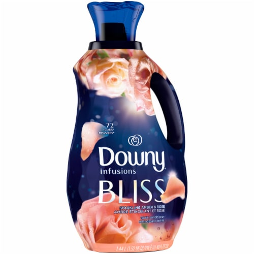 Downy Infusions Bliss Sparkling Amber & Rose Liquid Fabric Softener Perspective: left
