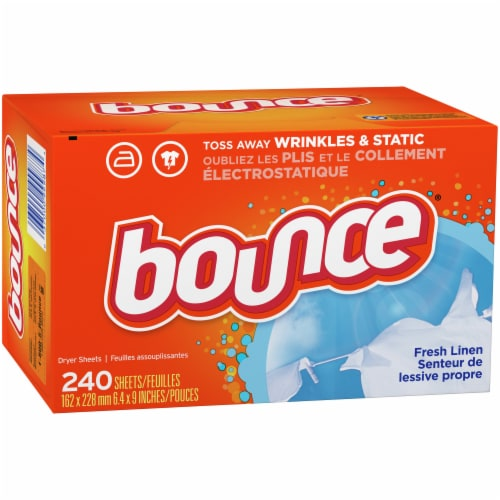 Bounce Fresh Linen Scented Dryer Sheets Perspective: left
