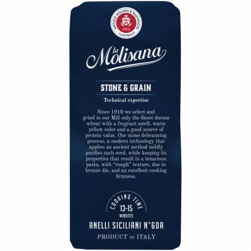 La Molisana Bronze Die Anelli Siciliani Durum Wheat Semolina Enriched Macaroni Product Perspective: left
