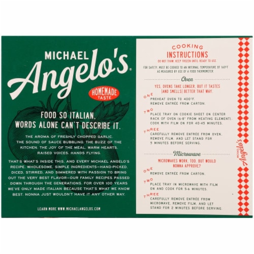 Michael Angelo's Lasagna with Meat Sauce Perspective: left