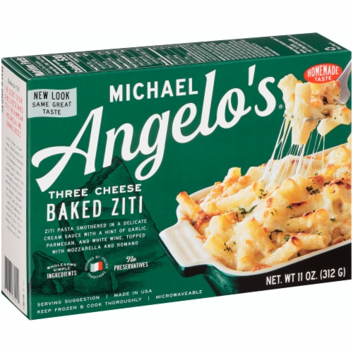 Michael Angelo's Three Cheese Baked Ziti Perspective: left