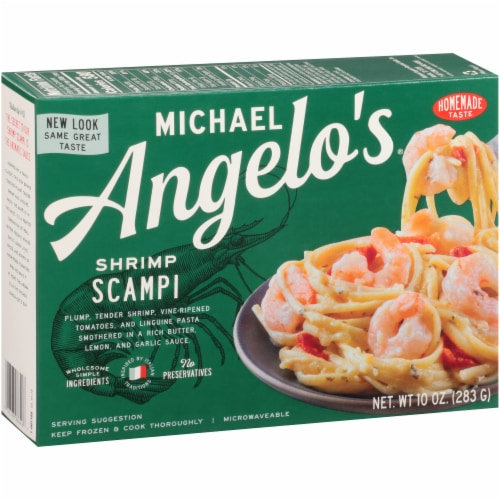 Michael Angelo's Shrimp Scampi Perspective: left