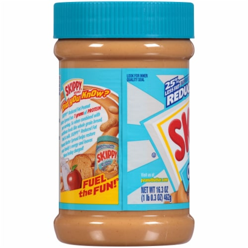 Skippy Reduced Fat Creamy Peanut Butter Spread Perspective: left