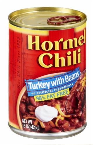 Hormel Turkey with Beans Chili Perspective: left
