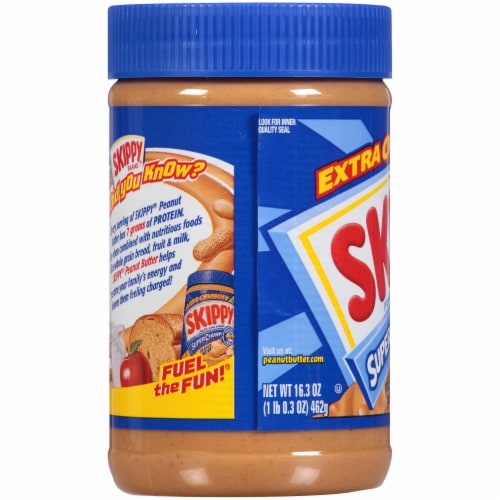 Skippy Super Chunk Peanut Butter Perspective: left