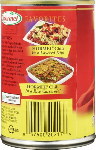 Hormel Vegetarian Chili with Beans Perspective: left