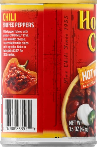 Hormel Hot Chili with Beans Perspective: left