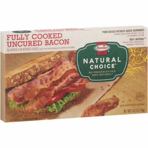 Hormel Natural Choice Fully Cooked Bacon Perspective: left